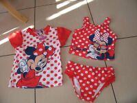 Disney Minnie Mouse 3 piece swimwear