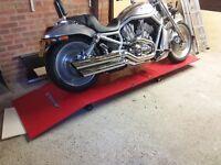 Motor bike lift Clark cm3 air and foot pedal hydraulic lift