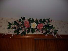 Beautiful Silk Flower Wall Decoration/Garland