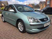 2004 HONDA CIVIC 1.6 SE EXECUTIVE 5DR LOW MILEAGE FSH 11 STAMPS STUNNING