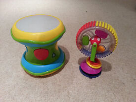 Light and Sound Drum Plus Rattle