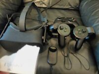 Oculus Rift CV1 Complete with TWO touch controllers & TWO sensors, Xbox controller, Remote, Cables