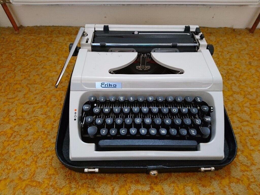 Vintage Erika portable typewriter with case