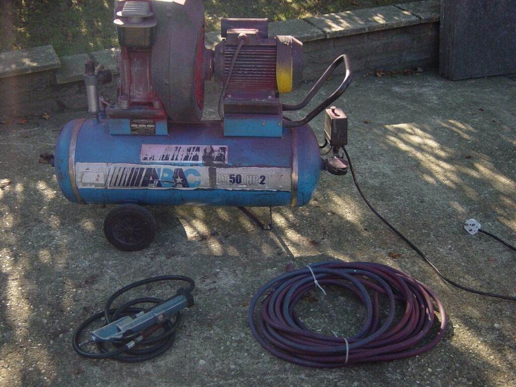 ABAC LT50 HP2 Air Compressorin Norwich, NorfolkGumtree - ABAC LT50 HP2 Air Compressor Working condition. Comes with hose and tyre gauge. Can Be seen running. Viewing welcome. £100 OVNO