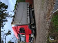 mercedes 815 curtain side lorry