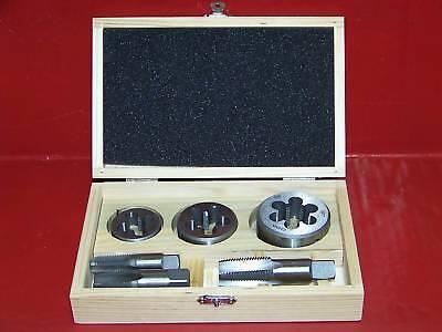 6pc Pipe Tap And Die 14 X 18 38 X 18 12 X 14 Npt Engine Repair Tool Set