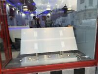 ESTATE AGENT WINDOW DISPLAY WITH LIGHTING AND X12 A4 PLASTIC POCKETS **GOOD CONDITION**