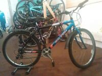 ADULTS RALEIGH RESPONDER 26 INCH WHEEL 18 SPEED BLACK/BLUE GOOD CONDITION