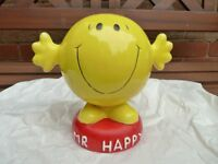Mr Men Mr Happy money box / piggy bank vintage - original from 1990's