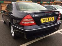 MERCEDES-BENZ C200 AUTOMATIC 1 OWNER FROM NEW FULL SERVICE HISTORY MOT LEATHER SEATS EXCELLENT DRIVE