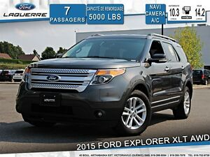 2015 Ford Explorer XLT*AWD*7 PLACES*GPS* CAMERA*CRUISE*A/C
