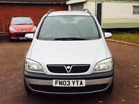 Vauxhall Zafira 1.8 petrol full mot cheap 7 seater 595
