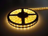 YELLOW LED LIGHTS DIY INTERIOR DECORATION 5M LIGHT STRIPS 300 BULBS FLEXIBLE FOR HOME DECORATION