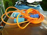 Caravan Mains Hook-up connector lead 10 metres, 240 volt 16 amp