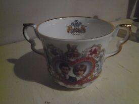 Charles & Diana Wedding Loving Cup. Bone China