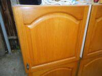 Solid oak kitchen unit doors