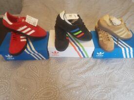 Adidas trainers all size 9 trimm star..gazelle..bermuda