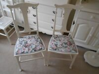 BEDROOM / BATHROOM CHAIRS PAINTED COUNTRY WHITE