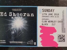 AWESOME SEATS - 3 Ed Sheeran Tickets Seated 17th June Wembley