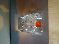 Six Brand New Lead Crystal Whiskey Glassess