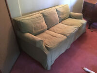 Large 3-seater sofa convertible to a double bed - Free to first person to collect