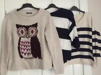 Women's Jumpers x 3 Size 18