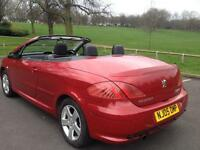 Peugeot 307 cc coupe convertible 2006 FSH 12 months test timing belt done
