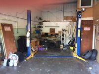 2 Post liftech ramp, hardly used , selling due to lack of use Ideal for small garage's