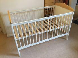 Mamas & Papas Savannah Cot Bed With Matching Shelf