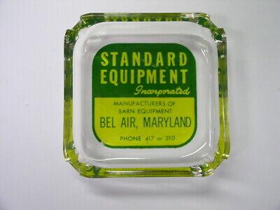 Vintage Bel Air, Md Maryland Standard Equipment Inc.Glass Advertising Ashtray