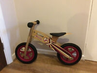 Wooden Balance Bike B'TWIN Cherry Pop - GREAT CONDITION USED ONLY 4 TIMES
