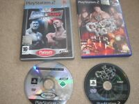 2 x Playstation2 games - WW Crush Hour/Smack Down vs Raw 2006
