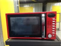 USED MICROWAVE MAKE AMBIANO RETRO STYLE COLOUR RED