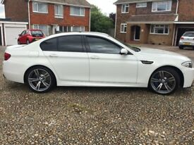 BMW M5 in White incudes M5 number plate