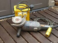 "Heavy Duty Site AEG 7"" Angle Grinder 110v Including Heavy Duty Site Transformer."