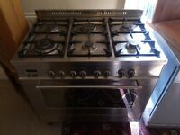 Double gas cooker for sale - double oven, 6 rings