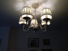Next chandeliers 5 light and 3 light matching pair