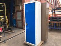 SINGLE DOOR TALL STEEL GREY BLUE CUPBOARD / TOOL CUPBOARD