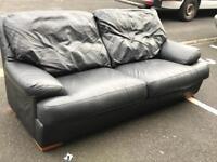 3 Seater Leather ( black) Sofa