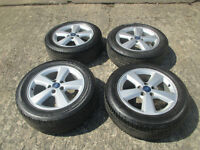 "ford focus mondeo transit connect 16"" alloy wheels 5stud all good tyres"
