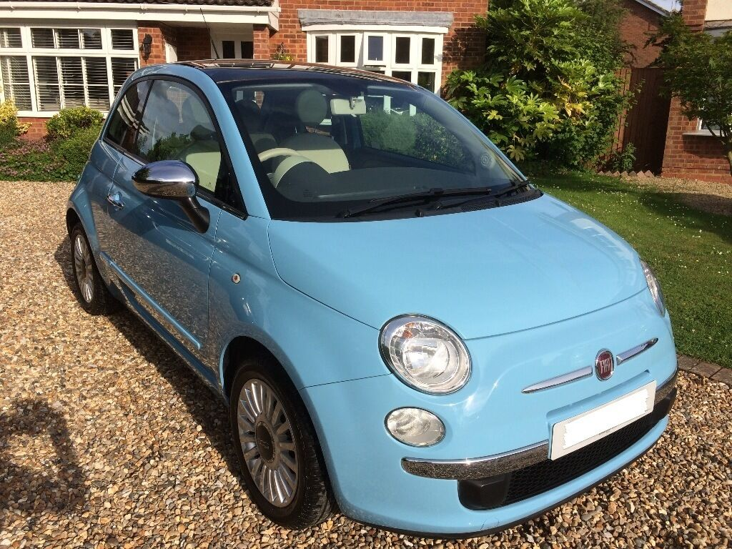 fiat 500 lounge 1 2 manual chrome pack panoramic roof light blue immaculate in aylesbury