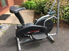 Confidence Fitness 2 in 1 Cross Trainer & Bike