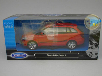 Skoda Fabia Combi II Rojo Welly 1:24 We22519re