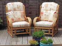 Cane/Bamboo Conservatory/Summerhouse Arm Chairs
