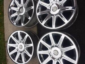 CHRYSLER 300 FACTORY OEM CHROME CLAD 18 INCH ALLOY WHEEL SET OF FOUR.