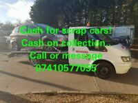Cheap recovery services. Scrap cars wanted!