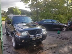 Mitsubishi Shogun Sport 2.5 Diesel. TV in back. 4x4 offroader swap