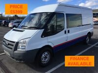 2010 FORD TRANSIT CREW / DAY VAN T350 RWD / NEW MOT / PX WELCOME / NO VAT / FINANCE / WE DELIVER