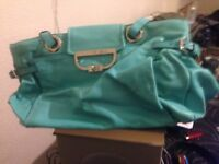 Mulberry Jenna bag in turquoise mint condition with dust bag serial number is 565825