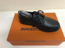 ROCKER DOG BLACK WOMEN SHOES EMMA ALLOY PU SIZE UK 4 NEW